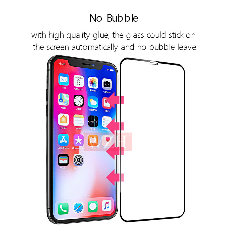 Image 4 - Full Cover Tempered Glass For iPhone XS XR Screen Protector iPhone XS Max Glass On iPhone 6 6s 7 8 Plus X 5 5S Protective Glass-in Phone Screen Protectors from Cellphones & Telecommunications