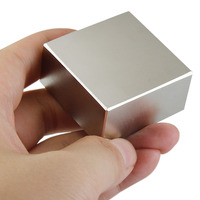 Free Shipping Neodymium Magnet Block 1pcs 40x40x20mm N52 Rare Earth Strong Magnets Nickle