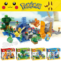 4pcs/set Pokemon Go Pikachu SY724 Building Blocks Kits Japanese Game Generations Bricks Toys Compatible With Lego
