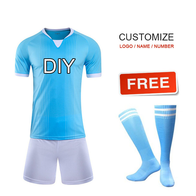 907e4b34d Onedoyee Team Soccer Uniforms Customize Men s Football Jerseys Soccer Kit  Youth Kids Football Training Set Boys