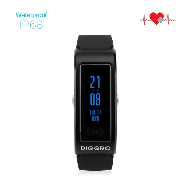 Diggro DF23 Heart Rate Monitor Smartband Waterproof Swim Smart Band Bracelet Sleep Fitness Tracker Wristband for Android and IOS