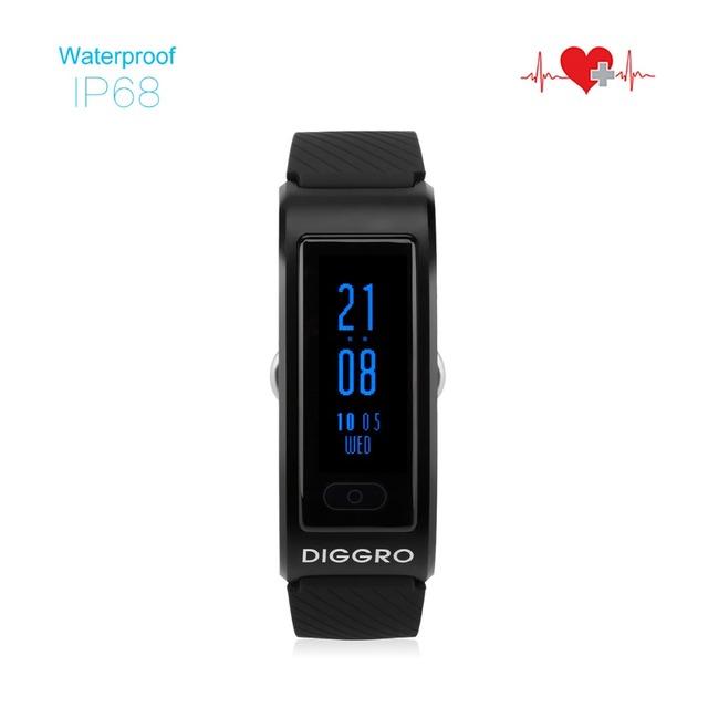 Diggro DF23 Monitor de Freqüência Cardíaca Pulseira Banda Aptidão Sono Rastreador Pulseira Smartband Mergulho À Prova D' Água Inteligente para Android e IOS