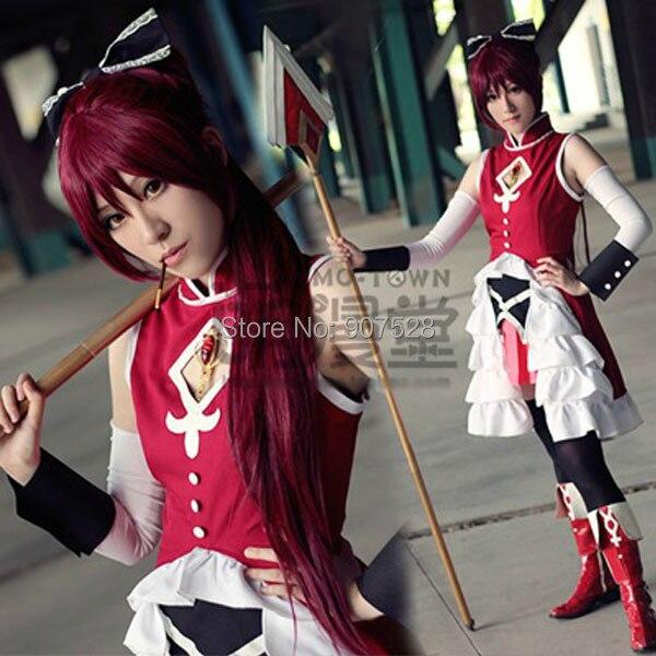 Puella Magi Madoka Magica Cosplay Costume Accessory Sakura Kyouko Hair Bowknot