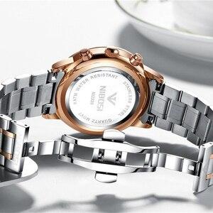 Image 2 - Relogio Masculino NIBOSI Männer Uhren Mode Sport Quarz Uhr Männer Uhr Top Marke Luxus Voller Stahl Business Wasserdichte Uhr