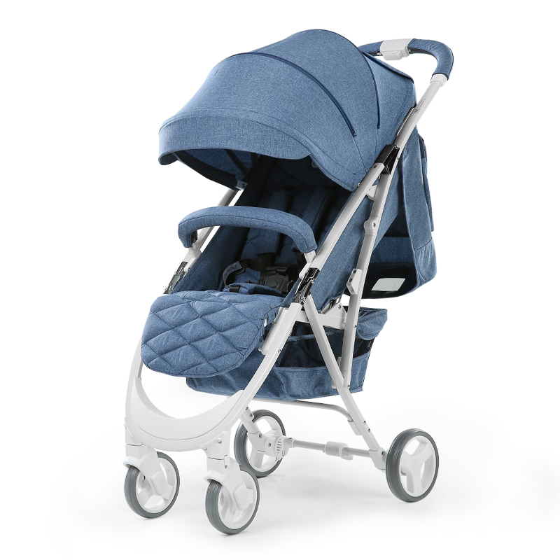 babyfond Baby stroller Lightweight high landscape Baby carriage can sit and lie pram one hand fold child umbrella cars fold baby stroller one hand fold portable baby carriage can sit and lie umbrella cart with travel bag 5 8kg baby stroller