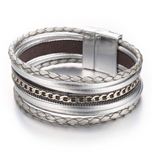 Vintage Styled Leather Charm Bracelets for Women
