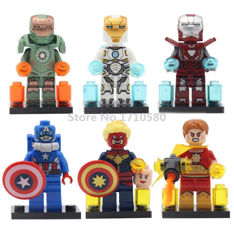 Decool Marvel Super Hero Building Blocks Single Sale MK47 MK39 Hyperion Captain America Iron man Kids