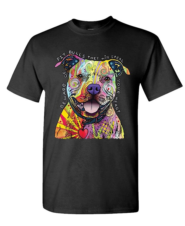 Возьмите Остерегайтесь питбуль Дин Руссо собака собак-Мужская хлопковая футболка