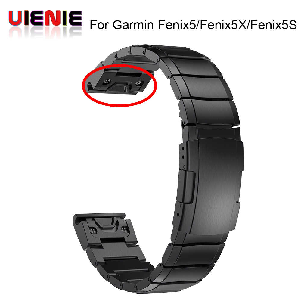 26 22 20MM Watchband Strap for Garmin Fenix 5X 5 5S 3 3HR D2 S60 GPS Watch Quick ReleaseStainless steel strip Wrist Band Strap