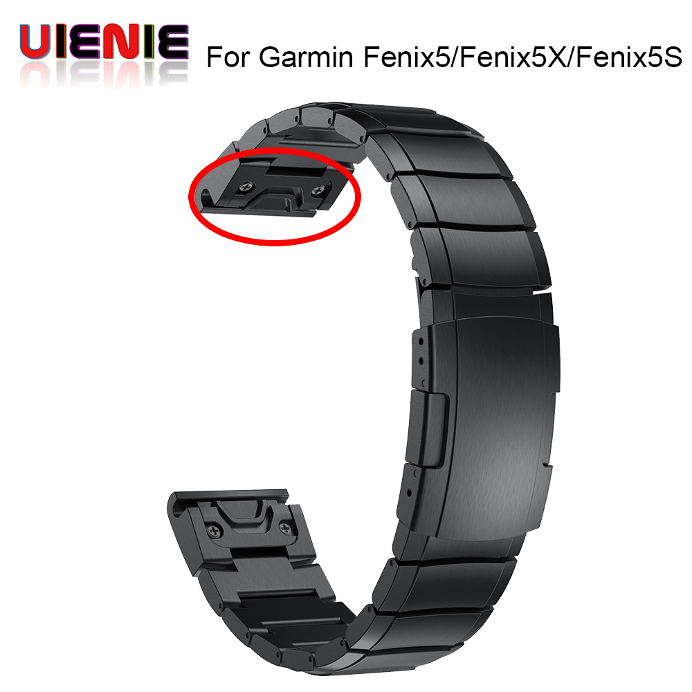 26 22 20MM Watchband Strap for Garmin Fenix 5X 5 5S 3 3HR D2 S60 GPS Watch Quick ReleaseStainless steel strip Wrist Band Strap-in Smart Accessories from Consumer Electronics