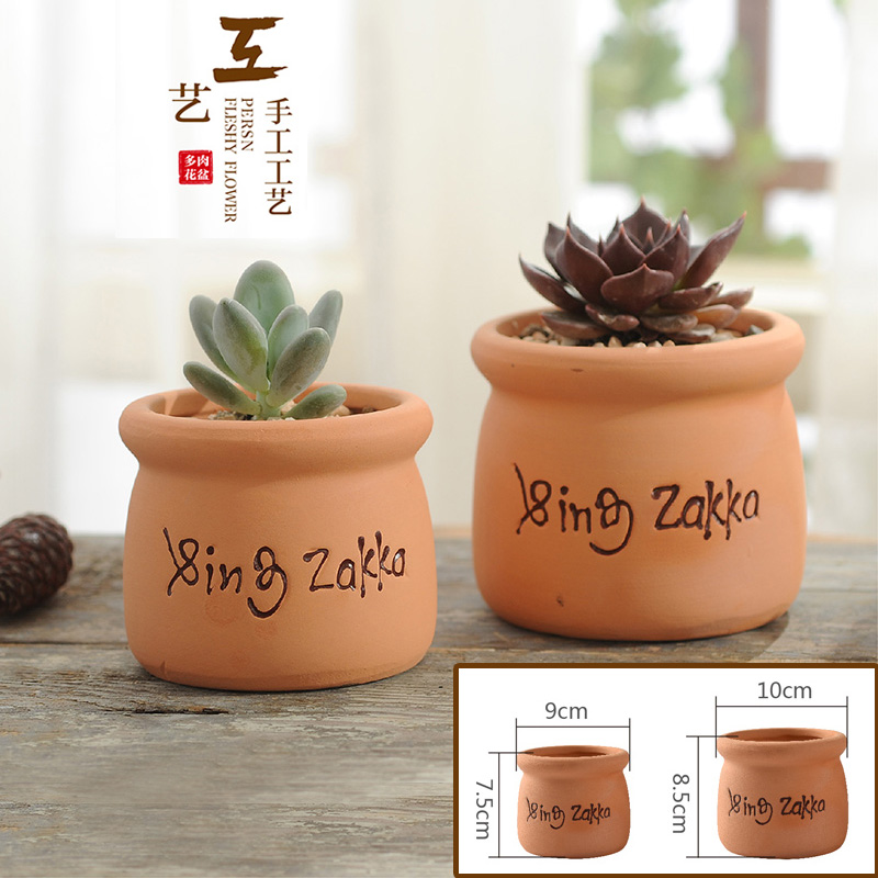 2019 ΝΕΟ Zakka Γάλα Μπουκάλι Σχήμα Terra-cotta Ανθοδέσμη Succulent Φυτά Ανθοπωλείο Home Decro Κήπος Vase Επιτραπέζια Μίνι Στολίδι