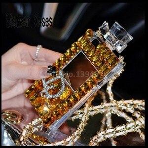 Image 2 - Luxo bling cristal diamante correia para iphone 11 pro max x xr xs max 6s 7 8 plus para samsung s8 s9 s20 s10 caso de telefone