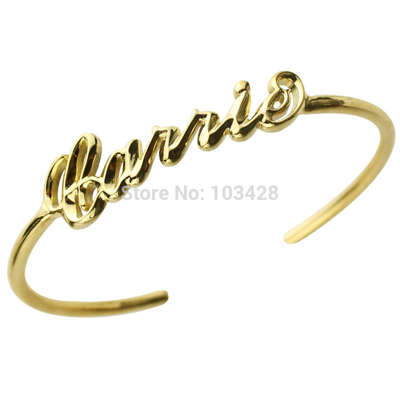 AILIN 3D Carrie Name Bracelet Gold Color Personalized 3D Name Bracelet Unique 3D Bracelet with Name Special 3D Jewelry wholesale infinity name bracelet gold color family bracelet with names custom name bracelet triple infinity sign mother jewelry