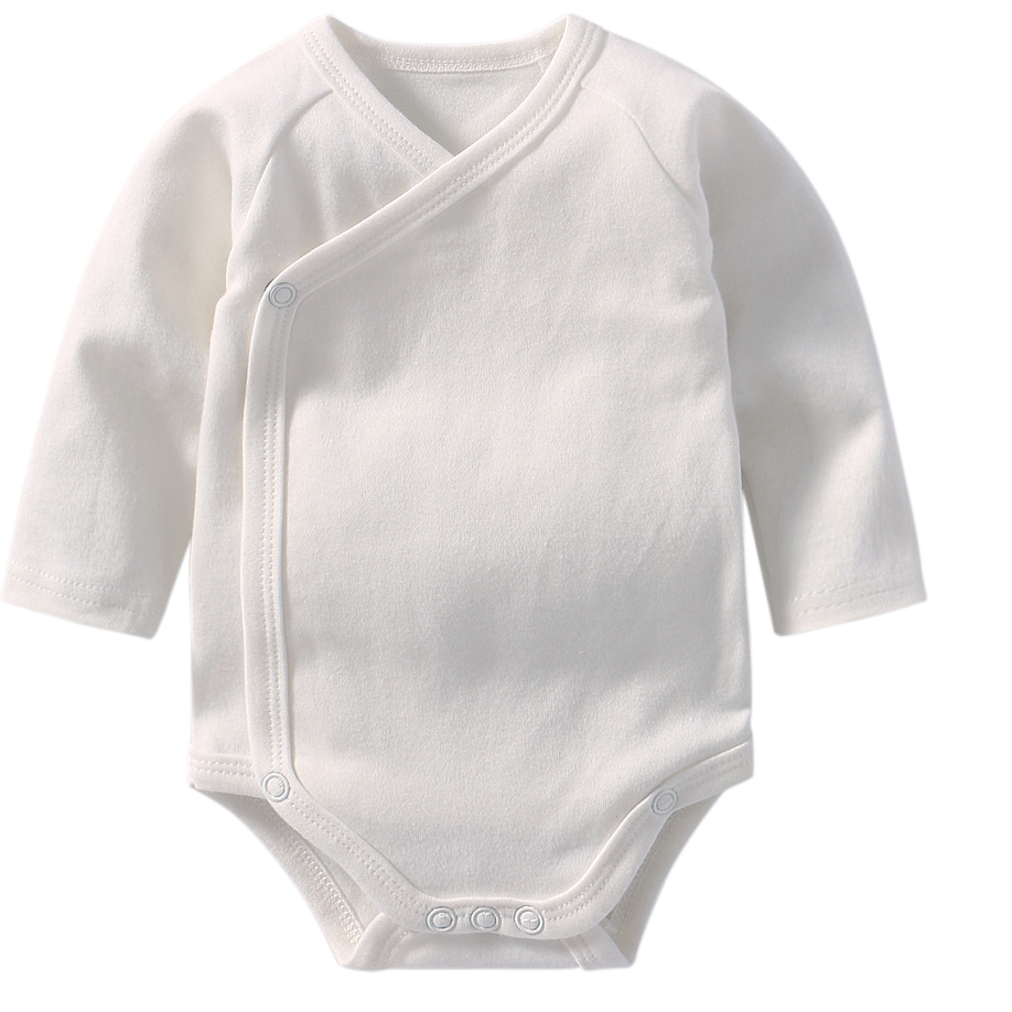 Baby Girl Onesie Bodysuits Long Sleeve Bodysuit For Newborns Cotton Body For Babies Child Boy Twins Clothes White Baby Clothes