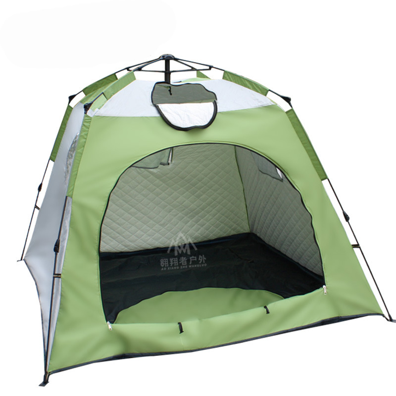 Large space 3 4 people ice fishing tent filling cotton winter tent automatic speed tent quick