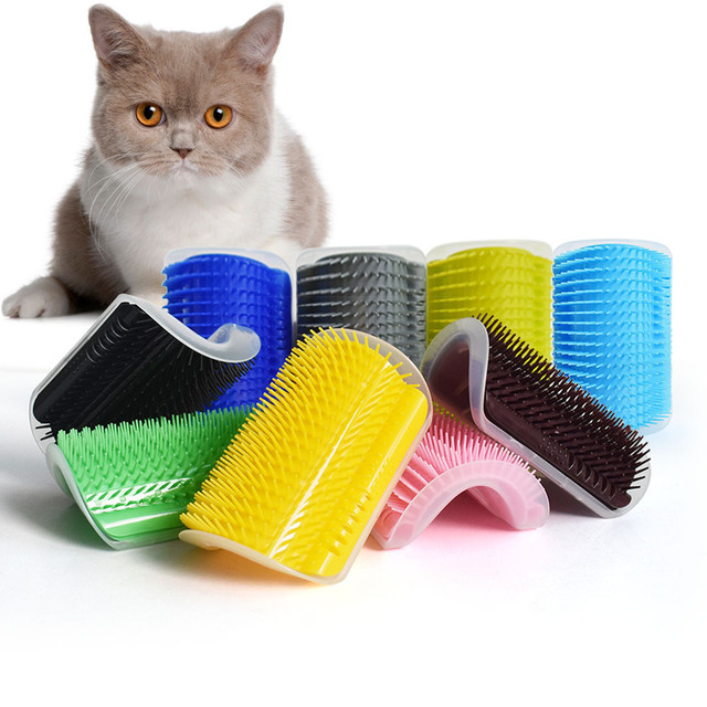 Peluquero para mascotas y gatos, herramienta para el cuidado del gato, peine para la eliminación del pelo, cepillo para perros, cepillo para el pelo, dispositivo de masaje con catnip