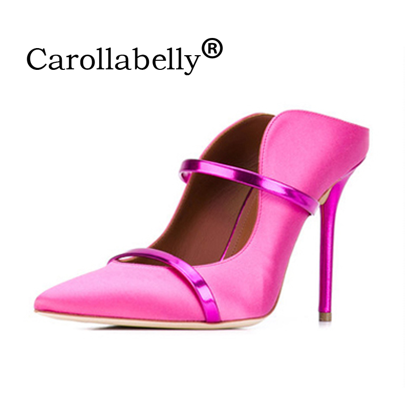 Carollabelly Sexy Women Pumps Straps Pointed Toe 10 CM High Heels Wedding Dress Shoes Woman Stiletto Gladiator Sandals carollabelly women brand shoes straps sexy pointed toe high heel wedding dress shoes 8cm 10cm woman stiletto gladiator pumps