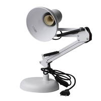 White Adjustable Swing Arm Drafting Design Office Studio Clamp Table Desk Lamp Light