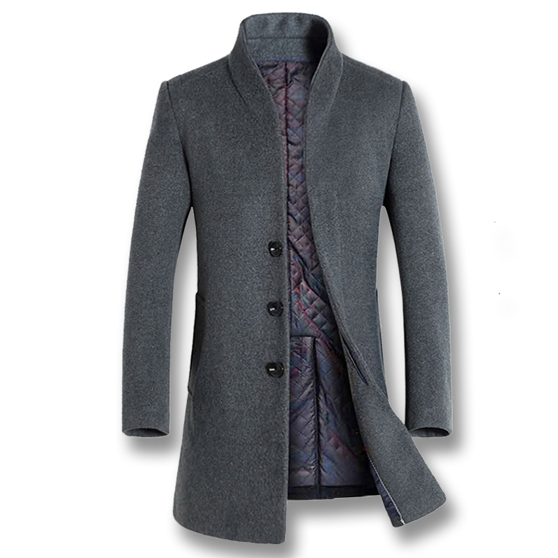 Mwxsd brand winter mens Wool coat men warm wool jacket and overcoat male warm plus thick