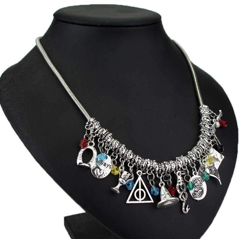 70bf8f6cdb9 ... Women jewelry Hogwarts jewelry deathly hallows snitch gold horcrux  Crown Of Ravenclaw snakeVoldemort Nagini Snake necklace ...