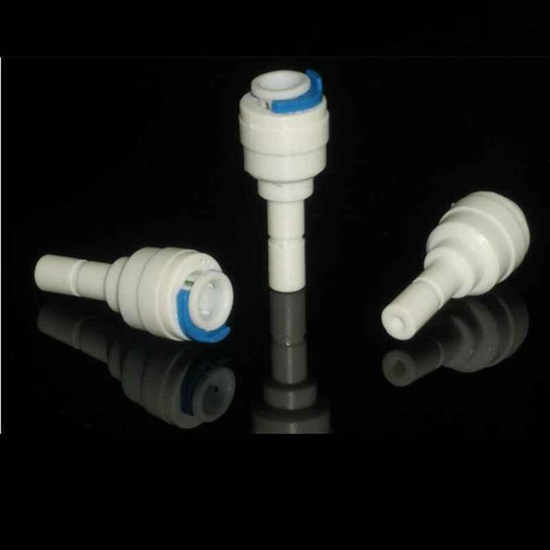 1/4 ''PE connexion rapide-1/4'' douille tuyau raccord tuyau connecteur en plastique Aquarium RO filtre à eau système d'osmose inverse