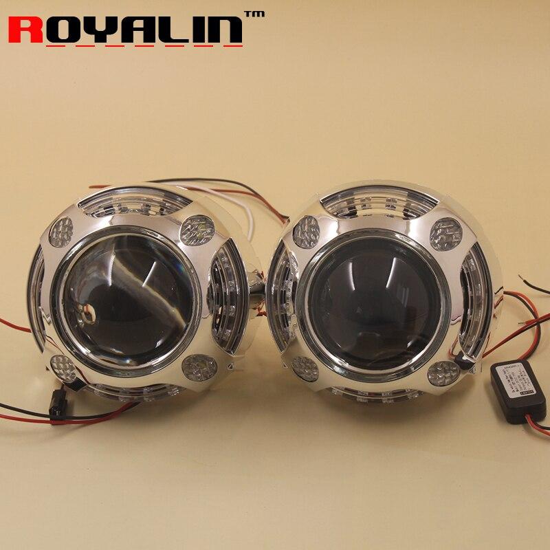 LED Daytime Running font b Light b font Angel Eye Devil Eyes Integrated Masks for Panamera