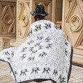Elefante Impresso Lenço de Algodão Macio Acessórios de Inverno Verão Protetor Solar Capa das Mulheres Moda Senhora Xales Foulard Femme 110*180 CM