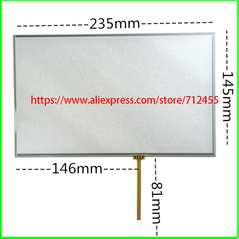 10,4 Zoll Touch Screen Glas 235mm * 145mm 4 Draht Resistiven Touch-panel FÜr Tisch Für Laptop 235*145 At102tn03 V.9/v.1/v.8 Touch