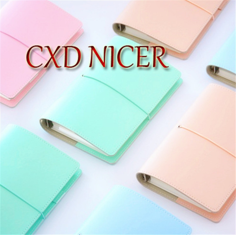 2017 new original a6 a7 pu leather planner travel creative diary planner loose leaf notebook with zip inside bag match lovedoki Creative Pure Color PU Notebook Portable 6 Hole Loose Leaf Planner Sketchbook Agenda Gift Stationery Diary Book DD1375