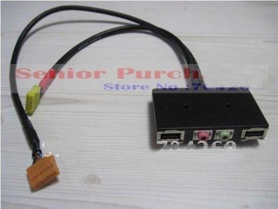 все цены на  for lenovo host case USB 2.0 AC97 / HD AUDIO MIC Board Front I/O Panel retail wholesale DIY  онлайн