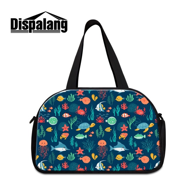 Lightweight Luggage Travel Bag Cute Animal Pattern Handbags Women Medium Sized Shoulder Sporty Duffel Bags