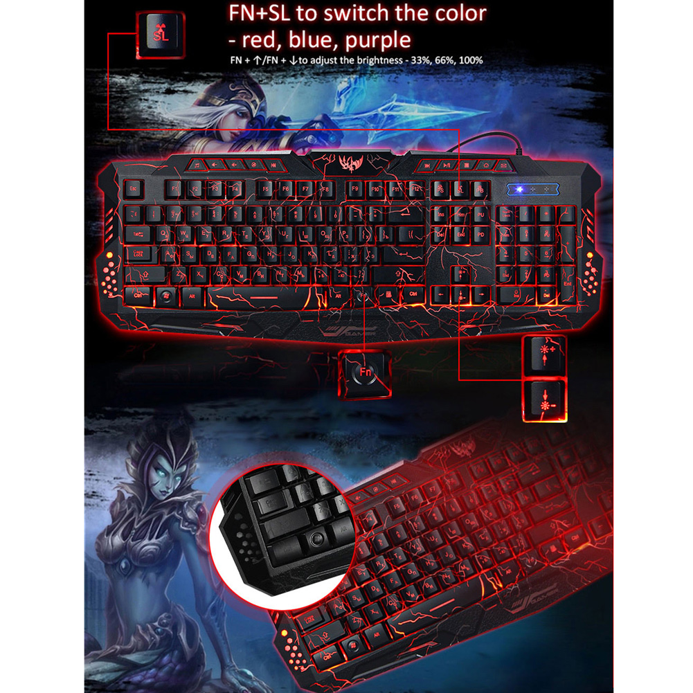 USB Wired Mechanical Gaming Keyboard USB Wired Mechanical Gaming Keyboard HTB1S