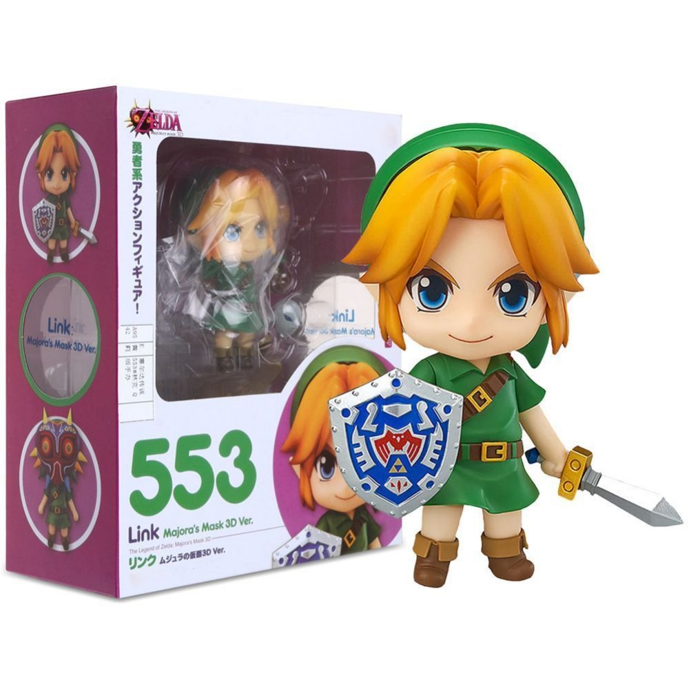 Anime 10cm The Legend of Zelda Link Majora's Mask 3D Ver.Animation PVC doll toys gift Collectible Figure Model With Original Box the legend of zelda breath of the wild link statue pvc painted figure collectible model toy 10inch