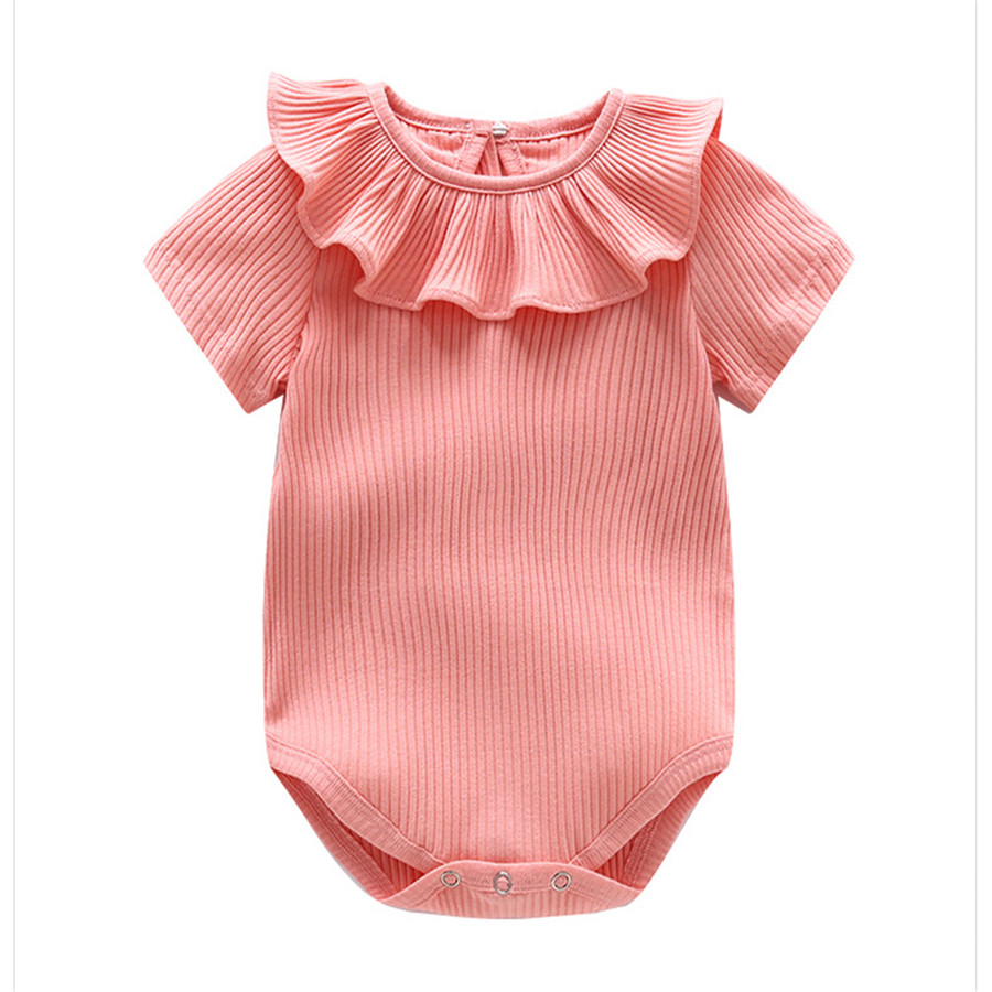 Joyo roy Nieuw artikel Kuil driehoek Rompertjes Baby meisjes Effen - Babykleding - Foto 4