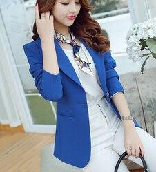 الربيع الخريف المرأة الحلل زراعة المرء الأخلاق قصيرة واحدة الصدر الأزرق/الأسود/greem بدلة الصغيرة