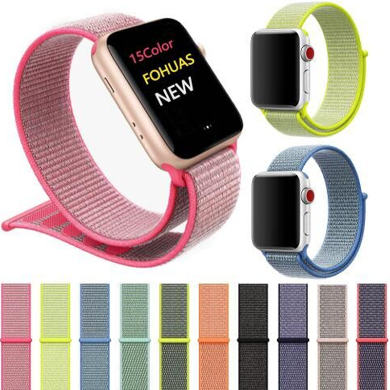 JOYOZY Sport loop For Apple Watch band 42mm 38mm iWatch 3/2/1 nylon watch strap bracelet watchband hook-and-loop closure clasp mu sen woven nylon band strap for apple watch band 42mm 38 mm sport fabric nylon bracelet watchband for iwatch 3 2 1 black