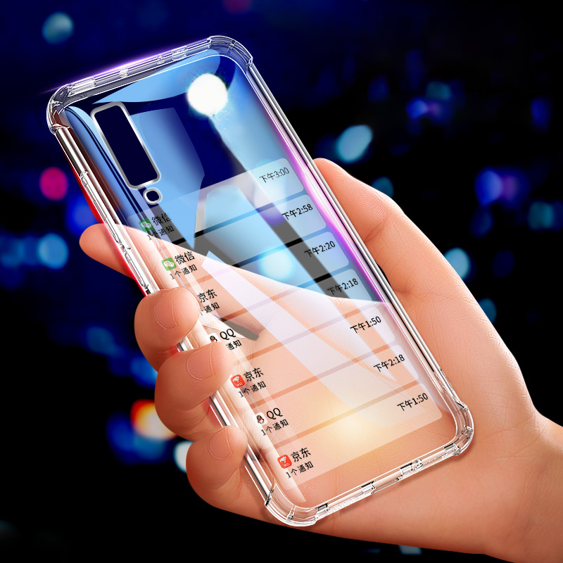 Airbag Clear Case For Samsung Galaxy S10 S9 S8 Plus Soft Slim TPU Case For Samsung A7 A9 A6 2018 Note8 9 A6S A9S Anti-Drop Cover