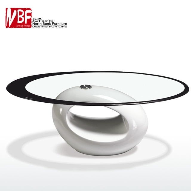 NBF North Shore Macroporous Small Apartment Living Room Coffee Table IKEA  Simple And Stylish Glass Oval