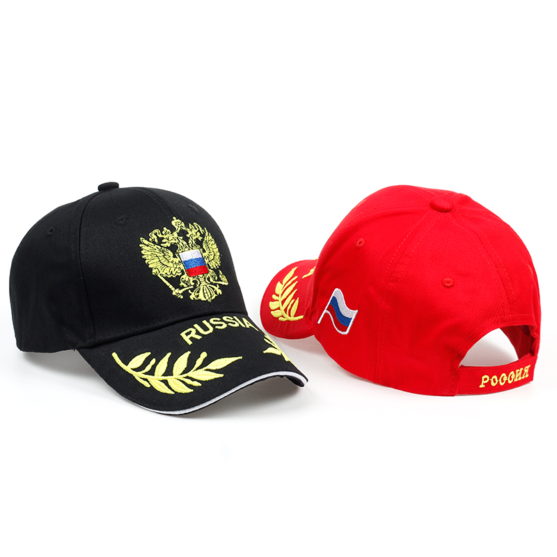 New arrival Russia badge embroidery   baseball     cap   high quality unisex snapback hat men outdoor sports hats women casual   caps