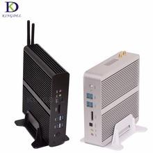 Big Promotion Fanless HTPC Mini pc i7 5500U 5600U Intel Nuc Mini Desktop PC Broadwell Graphics HD 5500 300M Wifi TV box 2*HDMI