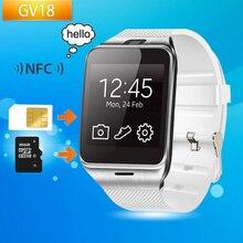 Original GV18 Bluetooth Armbanduhr mit Kamera Android Smart Uhr Unterstützung NFC SIM Smartwatch für Android Smartphone