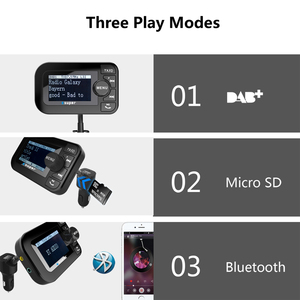 Image 5 - DAB 105 Multifunction Wireless Car Kit 5V/2.1A LCD Display Car Charger Bluetooth Handsfree Mp3 player DAB Adapter FM Transmitter