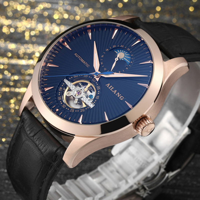 Marca de lujo ailang hombres Relojes automáticos Relojes Tourbillon - Relojes para hombres - foto 3