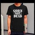 Nueva Moda de Verano No Está Muerto Dios Jesús Camiseta de Algodón para Hombres Casual Ropa de Los Hombres de Manga Corta Impresa Camiseta Camisetas