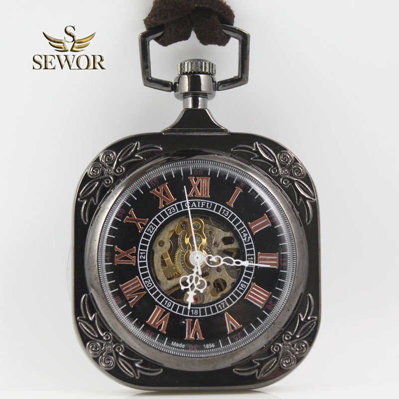 SEWOR Top Luxury Brand Hot Sales Novel Fashion Classical Men Favorite Sport Mechanical Antique Pocket Watch C216