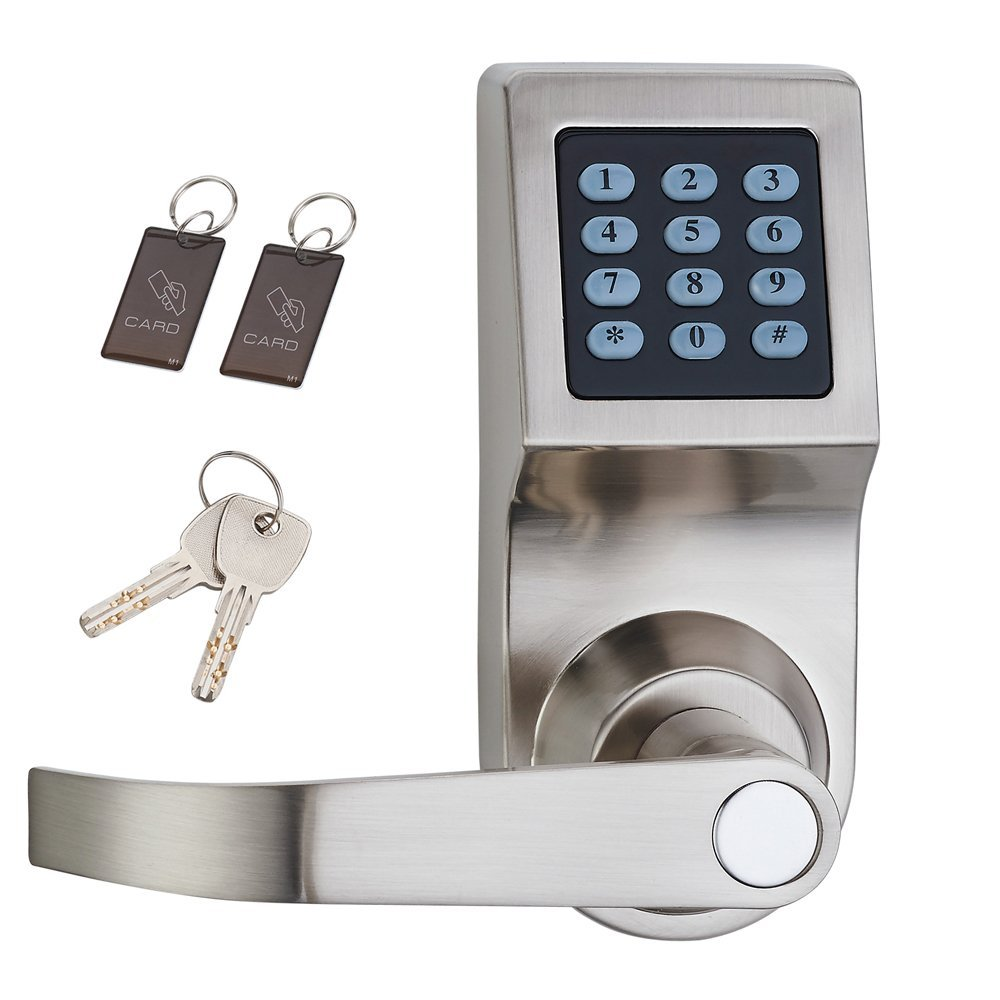 Digital Door Lock Electronic Lock Unlock with M1 Card Code and Keys