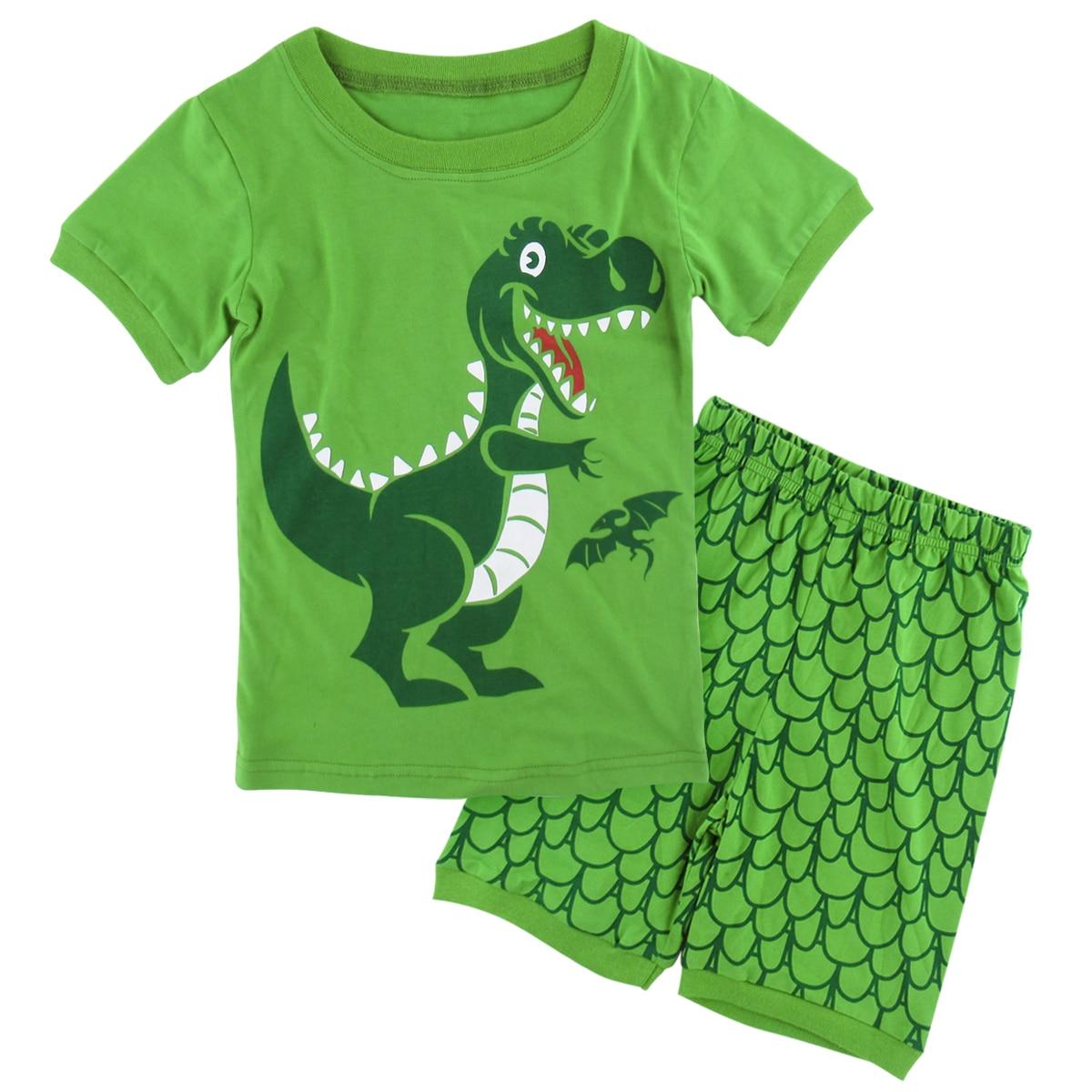 Children Kids Boys Dinosaur Sleepwear Cartoon Funny Pajamas Set Nightwear Winter