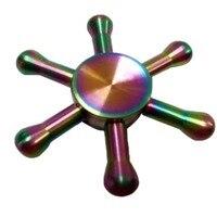 New Metal Fidget Spinner EDC Finger Spinner Hand Relieves Stress Hexagonal Hand Spinner Brass Fidget Toy