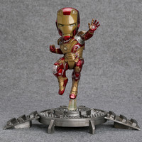 Super Hero Iron Man 3 Mark 42 XLII Resin Action Figure Collection Model Toy With LED