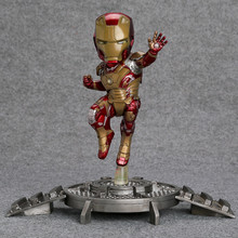 Super Hero Iron Man 3 Mark 42 XLII Resin Action Figure Collection Model Toy with LED Light